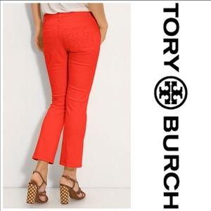 🆕Like New Tory Burch Super Skinny Logo Jeans